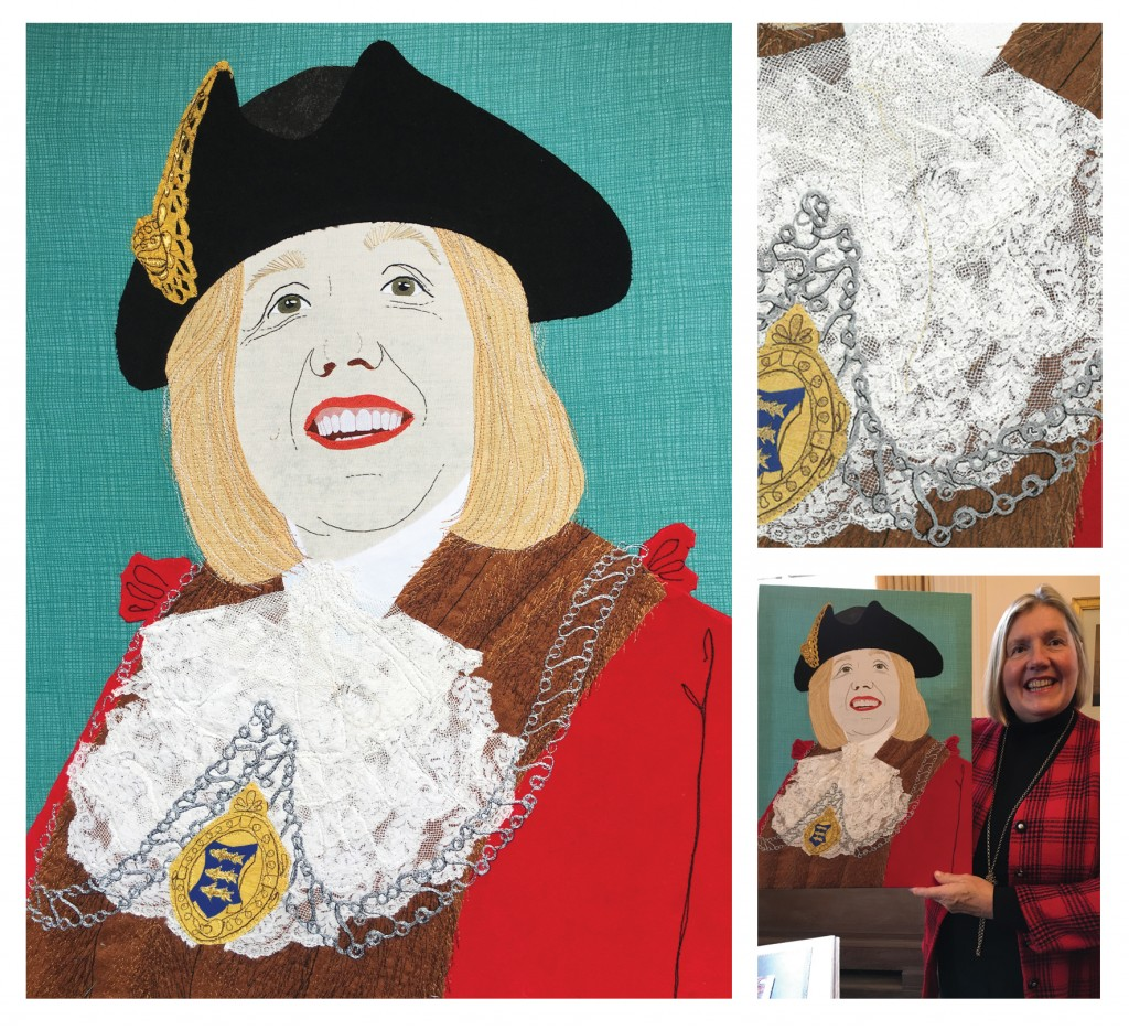 Stitched portraits by Ruth Blackford