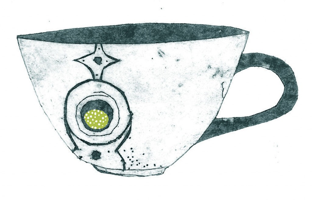 Cup - Collograph print on paper