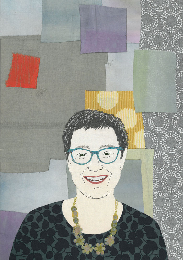 Stitched portrait by Ruth Blackford